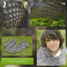 """Fields and Pier"" inspired shawl by April (@the_tangled_cat)"